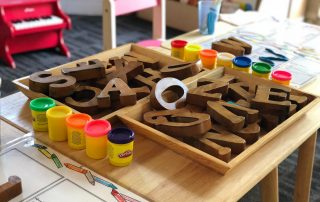 block letters and other preschool supplies